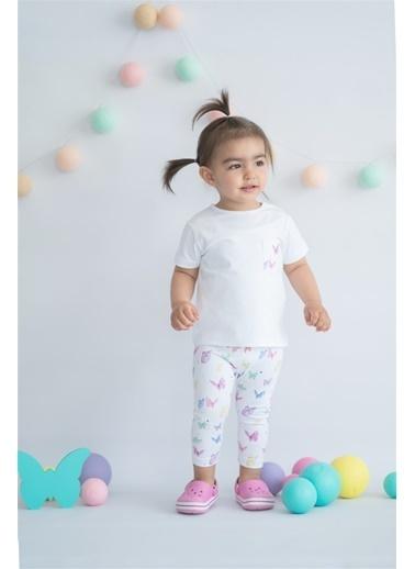 Nila Kids Butterfly Organik Kız Bebek Tayt Beyaz